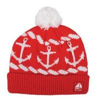 Amazon.com: neff Women's Sailor Beanie Hat, Red, One Size: Clothing