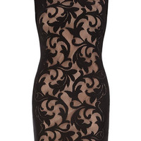 Black and ivory lace tube dress - Dresses  - Clothing