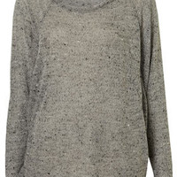 Speckle Panel Sweat Top - Jersey Tops  - Clothing