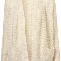 Knitted Textured Fluffy Cardi - Cardigans - Knitwear  - Clothing