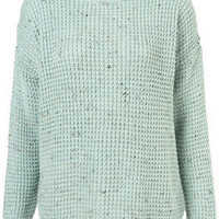 Knitted Nep Textured Jumper - Knitwear  - Clothing
