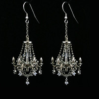 Sterling Silver Chandelier Earrings by MetalCoutureJewelry on Etsy