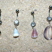 Hawaiian Shell Belly Button Rings