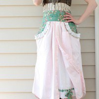 Spin cycle shabby chic apron
