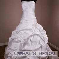 WD11262(f) strapless ball gown wedding dress nicolette coralsbridal