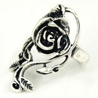 Vintage Rose and Vine Alloy Ring