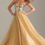New Sexy Long Sequins Gold Tulle Bridesmaid/Prom/Party/Ball Evening Dresses 6-16