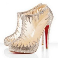 Christian Louboutin Marale 140mm Clear Boots