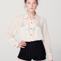 American Apparel - Houndstooth Tap Short