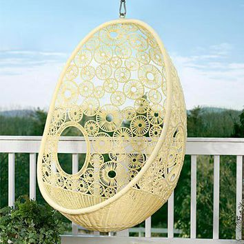 Flower Pod Chair - Wind and Weather