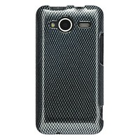 Carbon Fiber Design 2pcs Phone Protector Hard Cover Case for HTC EVO Shift 4g