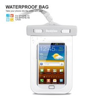 DandyCase White/Grey Waterproof Case for Apple iPhone 4, 4S - Also Works with iPod Touch 3, 4, iPhon
