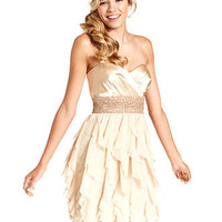 Roberta Juniors Dress, Strapless Ruffle Beaded - Juniors Dresses - Macy's