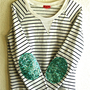 "The ""Dazzle Patch"" Nautical Sweatshirt -  w/Sequin Elbow Patch"
