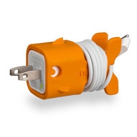 ORANGE FISHY IPHONE CHARGER &lt;3
