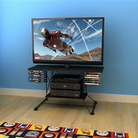 Dorm Room Entertainment Necessity - Soho College TV Stand - Black