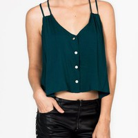 racerback-button-blouse HGREEN PEACH WHITE - GoJane.com