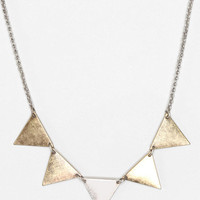 Metallic Triangles Necklace