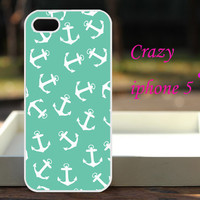 New  iphone 5 --iPhone 5 case iPhone 5 cover iPhone 5 skin Apple Iphone 5 Cover  iphone case iphone 4 case iphone 4S --Tiffany Blue anchor
