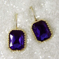 Captured Dreams Earrings in Sapphire, Sweet Affordable Jewelry