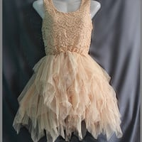 Xmas Gifts Prom Dress - Lace Dress Party Dress - Sweet Cocktail Dress / Bridesmaid Dress Girl