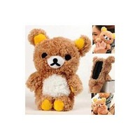 Amazon.com: Plush Toy Case for iPhone 4 and iPhone 4S -- Best Quality Brown Bear Rilakkuma: Cell Phones & Accessories