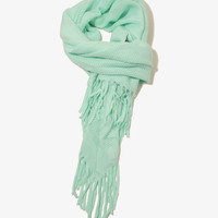 Fringed Asymmetrical Scarf