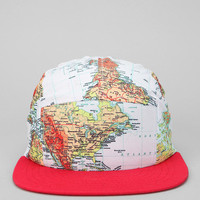 World Maps 5-Panel Hat