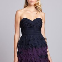 ideeli | A.B.S. BY ALLEN SCHWARTZ Bustier Tiered Silk Evening Dress