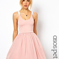ASOS PETITE Exclusive Strappy Back Tutu Dress at asos.com