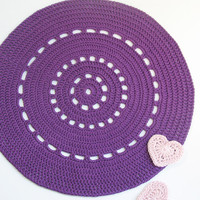 Purple Shiny Placemat - Doily Serie.. on Luulla