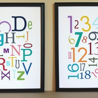 Multi-Color Alphabet And Numbers Ar.. on Luulla