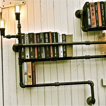 Bookshelf Industrial Lighting Level 3 by stellableudesigns on Etsy
