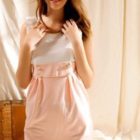 Sweet Pink Girls High Waist Dresses : Wholesaleclothing4u.com