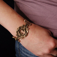 Keyhole Bracelet Bronze Cuff