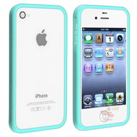 Everydaysource Shiny Blue TPU Rubber Bumper Case for Apple® iPhone® 4 / 4S