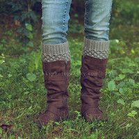 Womens Boot Cuffs // Boot Socks // Boot Toppers // Grey // Puffy Boot Cuffs // Delivered After Christmas