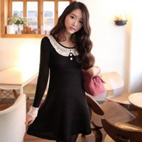Latest Juniors Lace Embellished Black Dresses : Wholesaleclothing4u.com