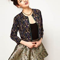 ASOS Jacket With Premium Trophy Embellishment at asos.com