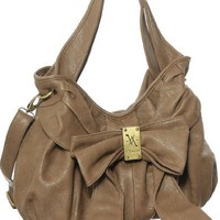 Taupe Carolina Crossbody Hobo