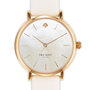 kate spade new york &#x27;metro&#x27; round leather strap watch | Nordstrom
