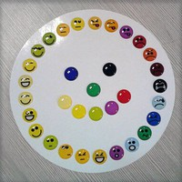 33 Pieces 3D Semi-circular Emoticons Goofy Happy Angry Smiley Faces Home Button Stickers for iPhone
