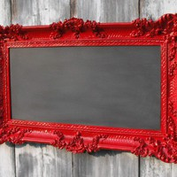 HOLLYWOOD REGENCY CHALKBOARD Red Baroque Wedding by RevivedVintage
