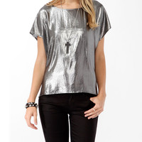 Boxy Metallic Lamé Top | FOREVER21 - 2017307580