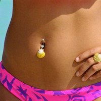 SALE: Sunrise Shell Belly Button Ring use coupon code CHRISTMAS for 15% off Sunrise Shells