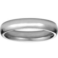 4mm Comfort Fit Wedding Ring in 18K White Gold