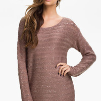 Original Frenchi Sequin Sheer Sweater Tunic (Juniors) | Nordstrom