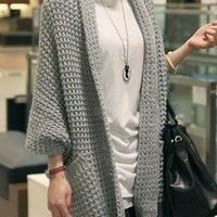 Countryside Draped Slouchy Grey Oversized Soho Cardigan Sweater Coat 20-34 OS