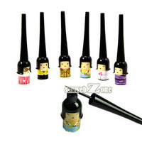 S0BZ 1PCS Japanese Doll Black Waterproof Liquid Eyeliner Smudge Proof Makeup Eye