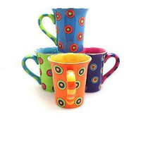 Dancing Dots Mugs (set of 4)